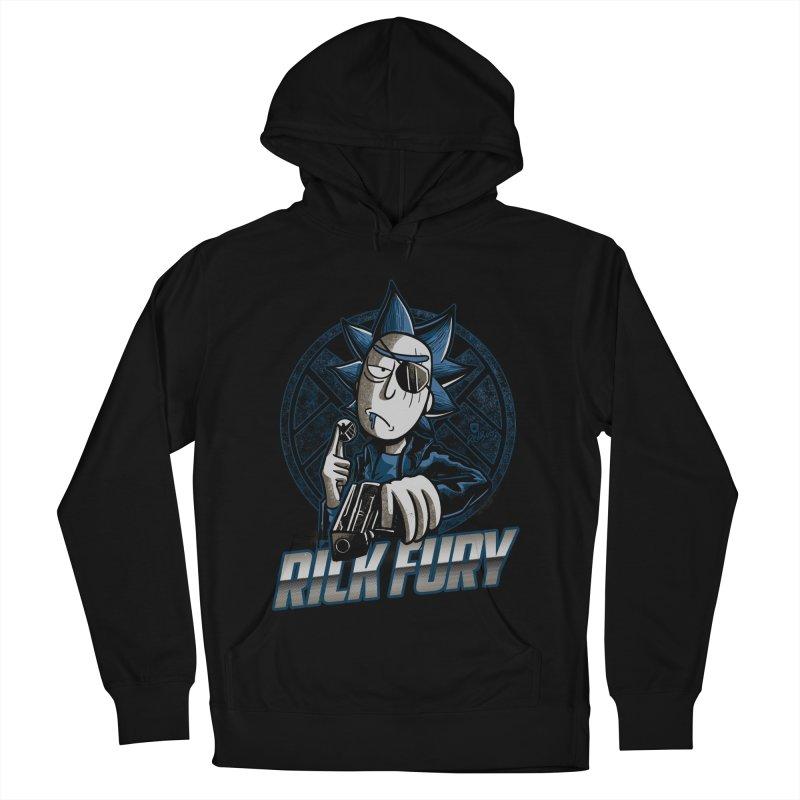 Rick Fury Men's French Terry Pullover Hoody by Red Bug's Artist Shop