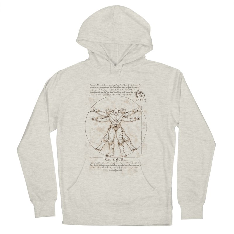 Kintaro Vitruviano Men's French Terry Pullover Hoody by Red Bug's Artist Shop