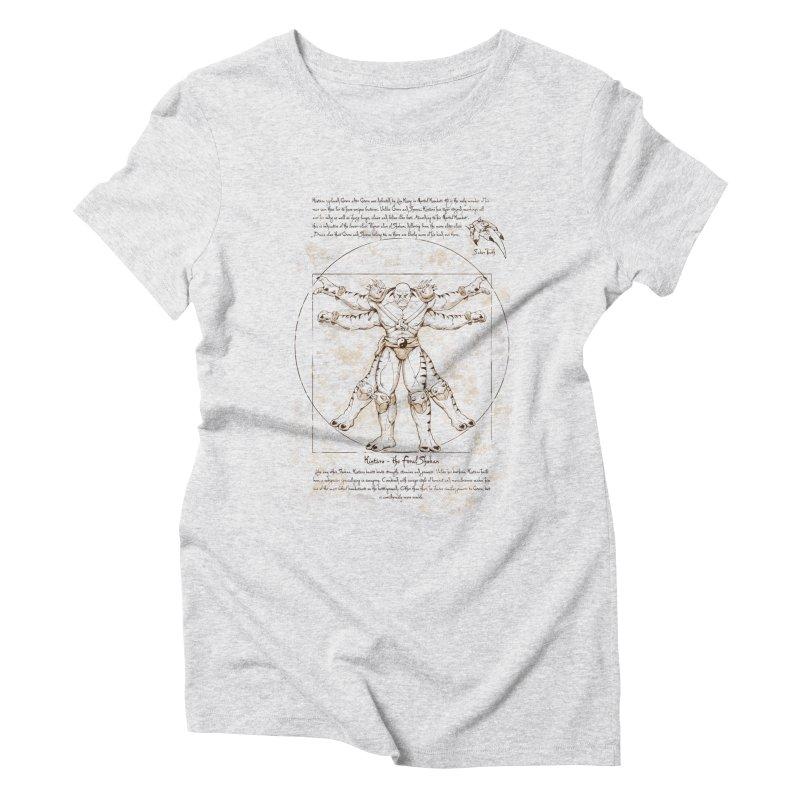 Kintaro Vitruviano Women's Triblend T-Shirt by Red Bug's Artist Shop