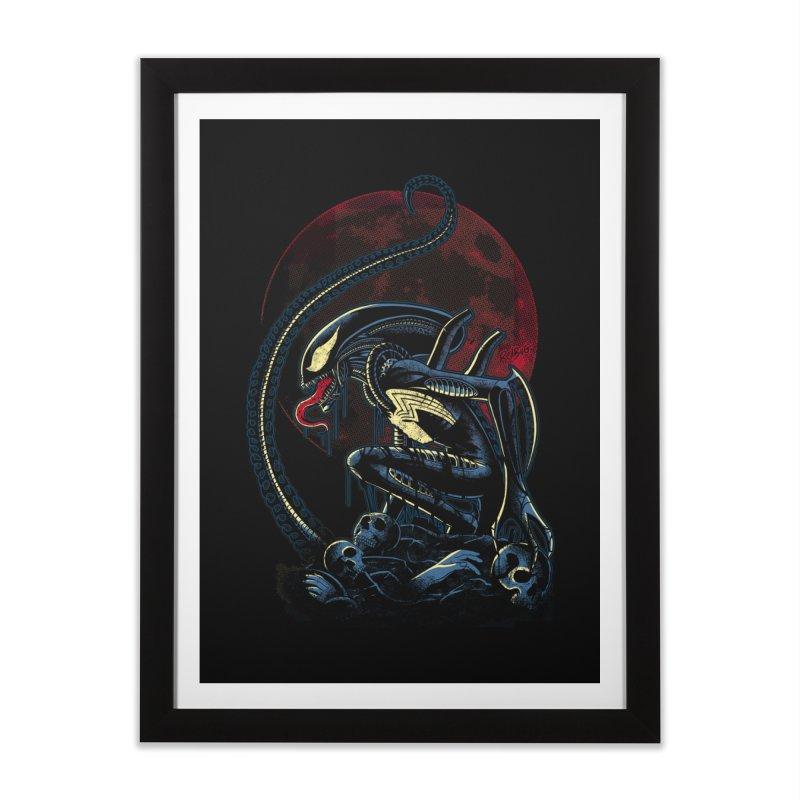 Alien Venom Home Framed Fine Art Print by Red Bug's Artist Shop