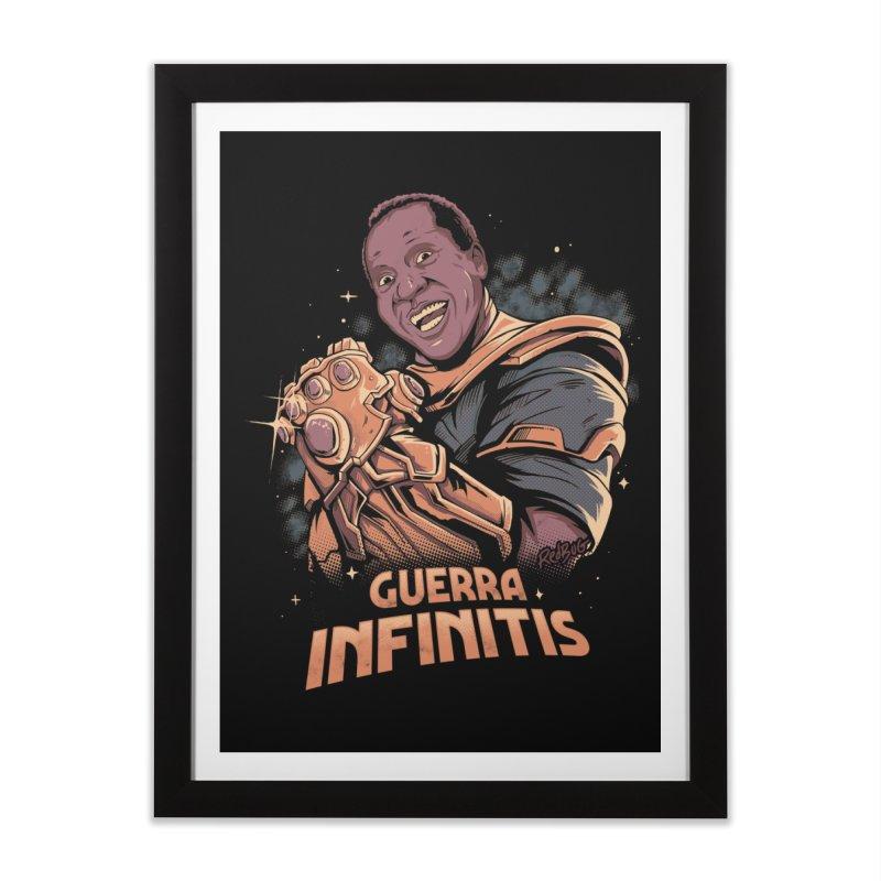 Guerra infinitis Home Framed Fine Art Print by Red Bug's Artist Shop