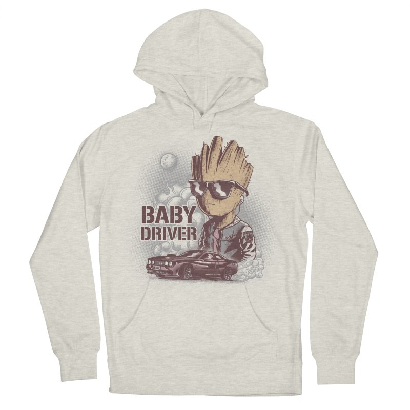 Groot Driver Men's French Terry Pullover Hoody by Red Bug's Artist Shop