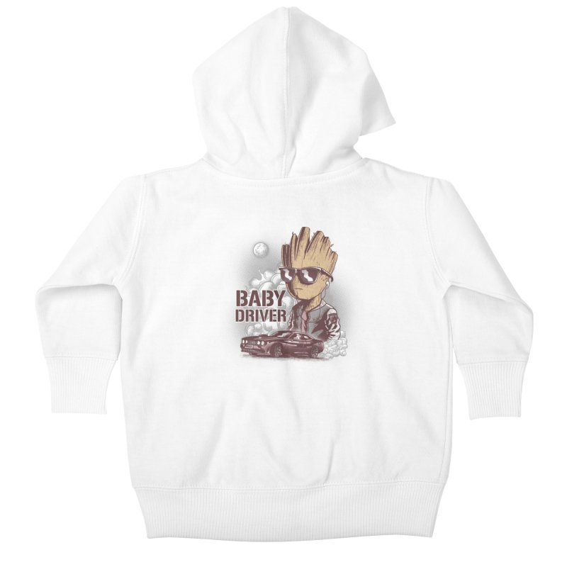 Groot Driver Kids Baby Zip-Up Hoody by Red Bug's Artist Shop