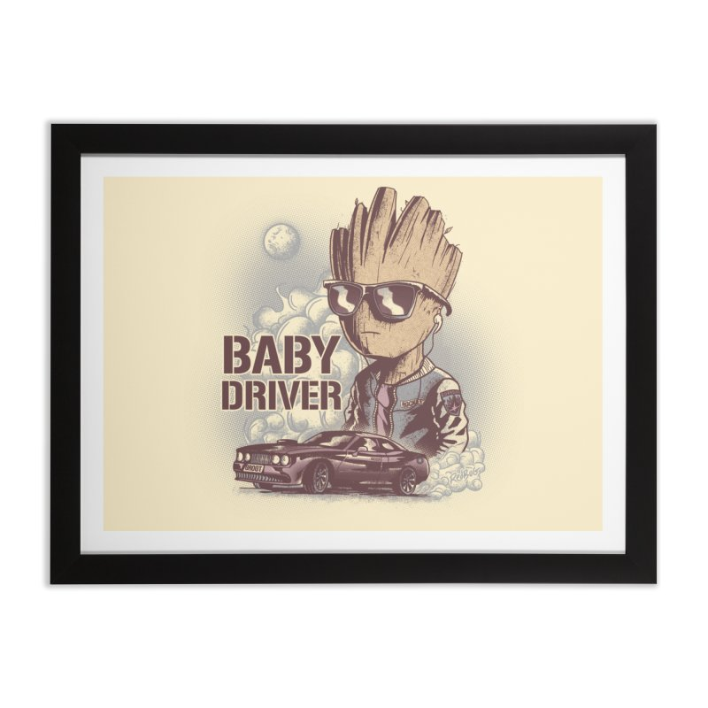 Groot Driver Home Framed Fine Art Print by Red Bug's Artist Shop