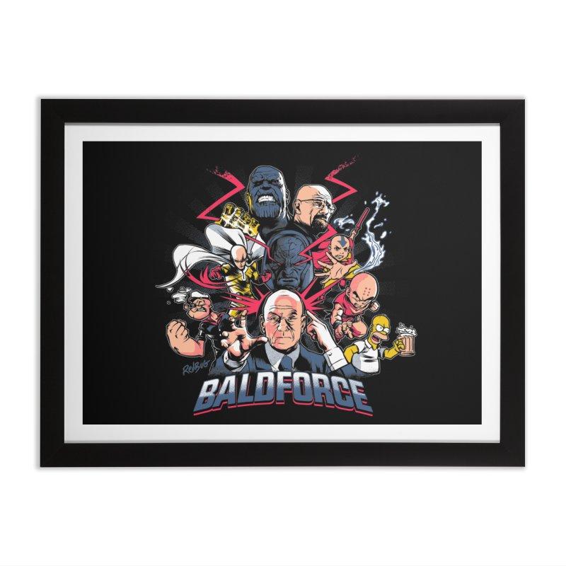 Baldforce Home Framed Fine Art Print by Red Bug's Artist Shop