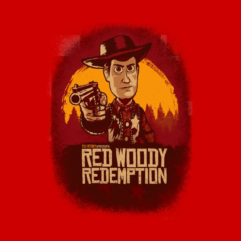 Red Woody Redemption Men's Pullover Hoody by Red Bug's Artist Shop