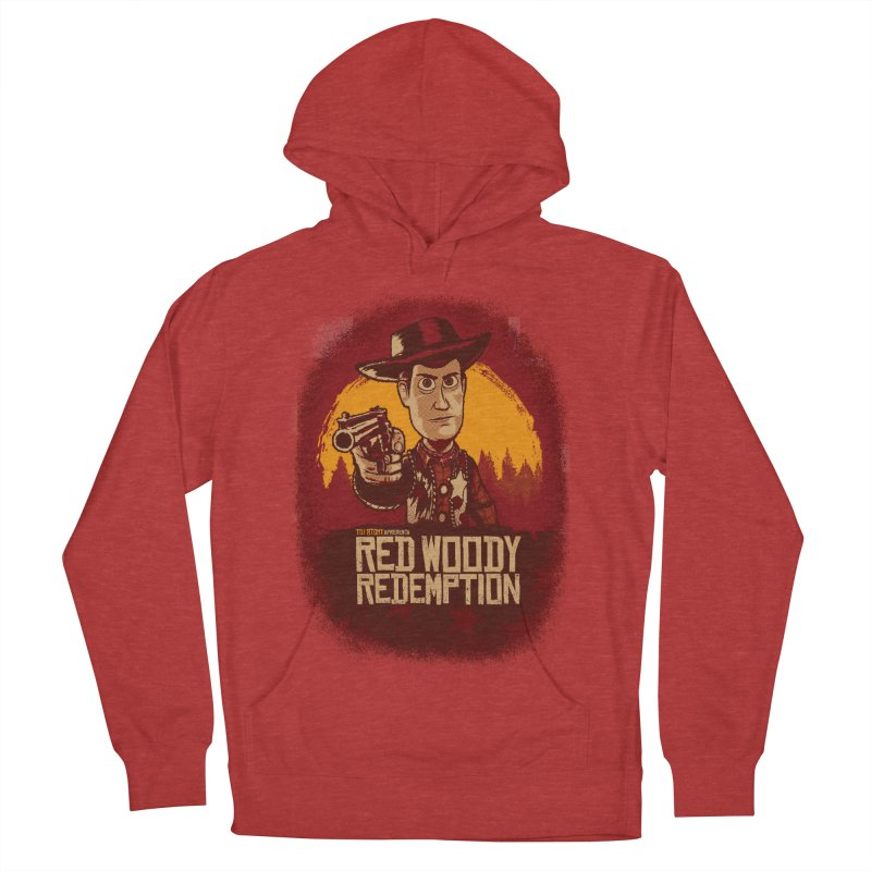 Red Woody Redemption Men's French Terry Pullover Hoody by Red Bug's Artist Shop