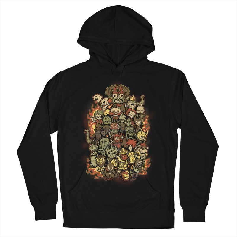 Bad Guys Party Men's French Terry Pullover Hoody by Red Bug's Artist Shop
