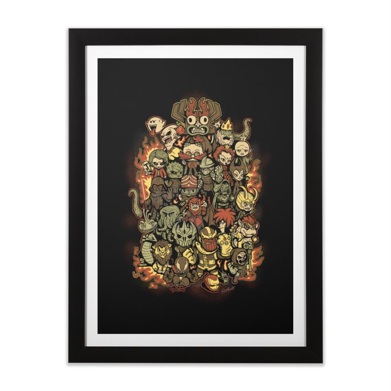 Bad Guys Party Home Framed Fine Art Print by Red Bug's Artist Shop
