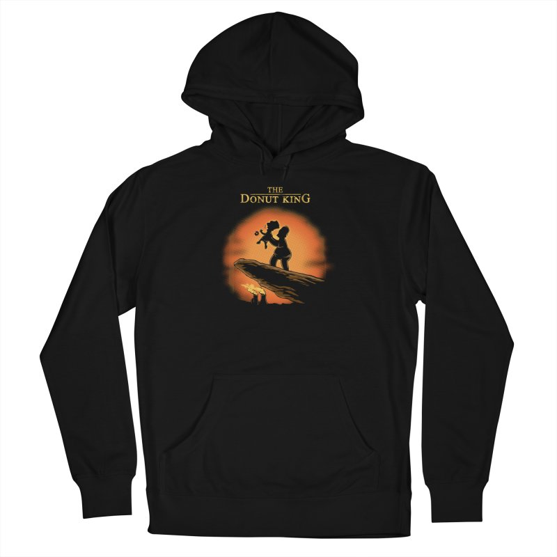 Donut King Men's French Terry Pullover Hoody by Red Bug's Artist Shop