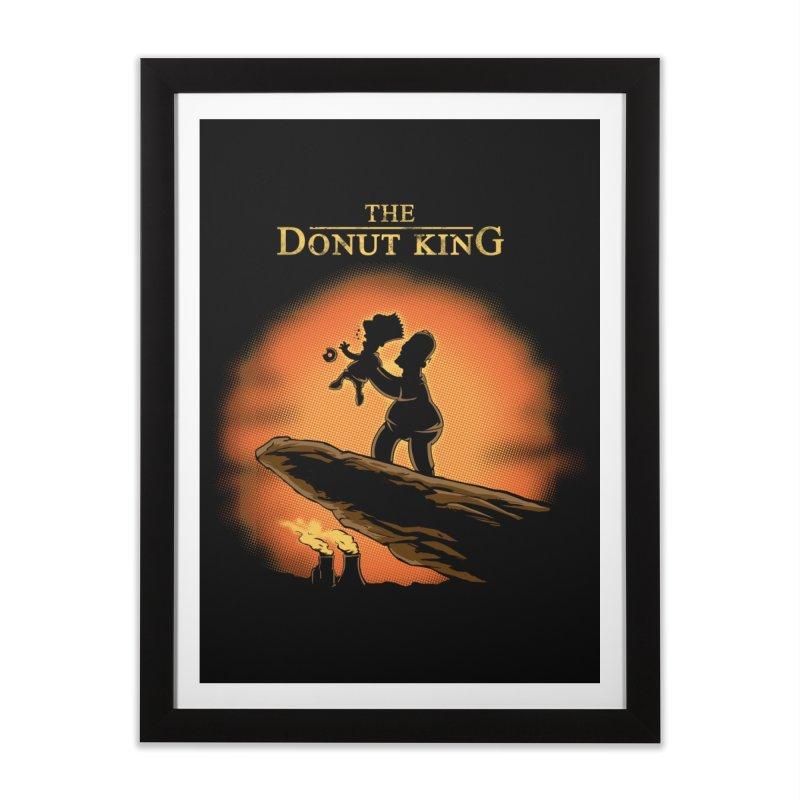 Donut King Home Framed Fine Art Print by Red Bug's Artist Shop