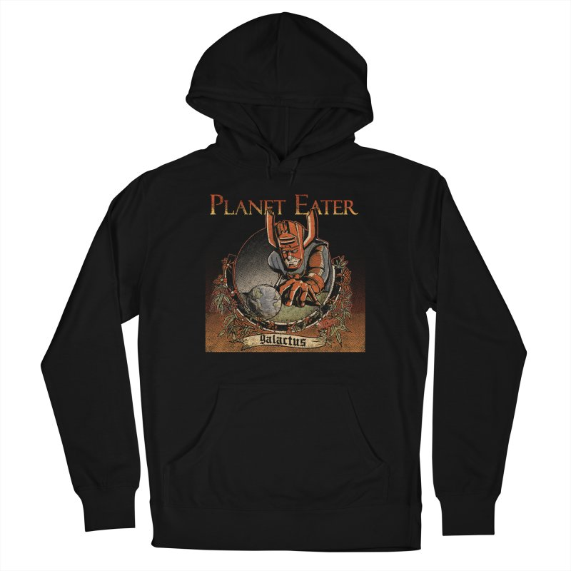 Planet Eater Men's French Terry Pullover Hoody by Red Bug's Artist Shop