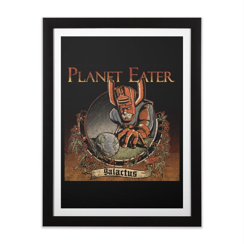 Planet Eater Home Framed Fine Art Print by Red Bug's Artist Shop