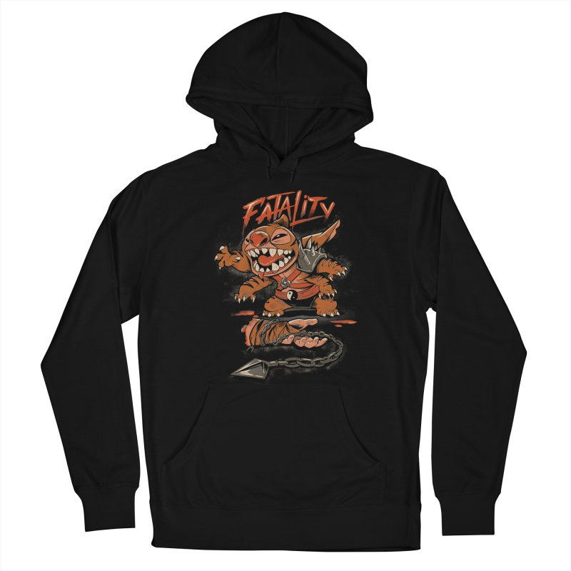 Cute Fatality Men's French Terry Pullover Hoody by Red Bug's Artist Shop