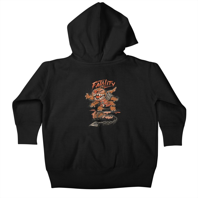 Cute Fatality Kids Baby Zip-Up Hoody by Red Bug's Artist Shop