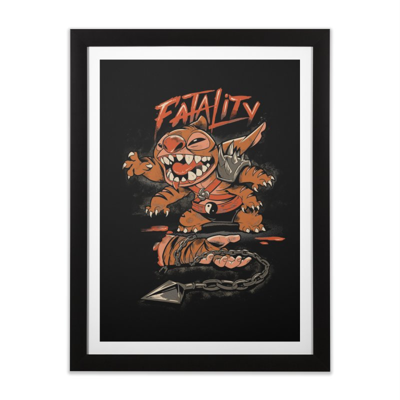 Cute Fatality Home Framed Fine Art Print by Red Bug's Artist Shop
