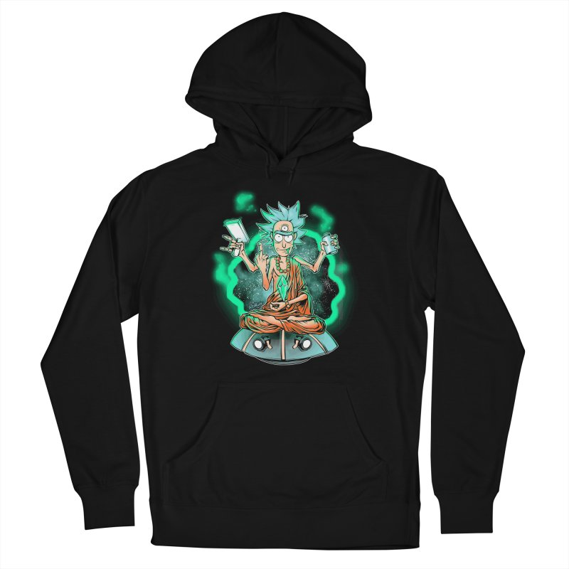 Zen Rick Men's French Terry Pullover Hoody by Red Bug's Artist Shop
