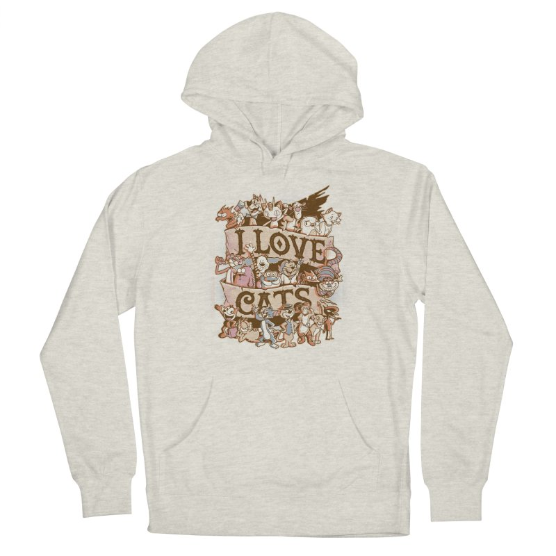I Love Cats Men's French Terry Pullover Hoody by Red Bug's Artist Shop