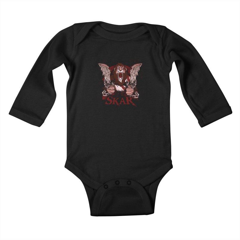 Skar Kids Baby Longsleeve Bodysuit by Red Bug's Artist Shop