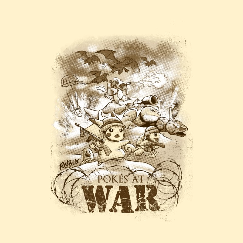 Pokés at War Kids T-Shirt by Red Bug's Artist Shop