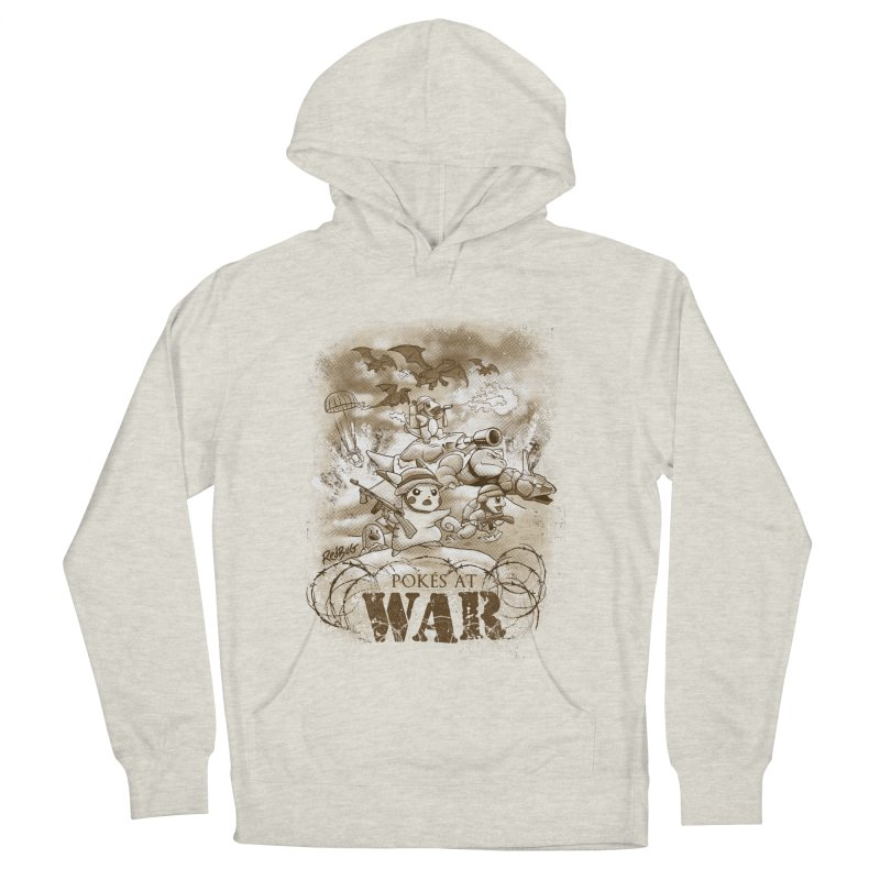 Pokés at War Men's French Terry Pullover Hoody by Red Bug's Artist Shop
