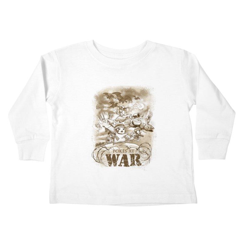 Pokés at War Kids Toddler Longsleeve T-Shirt by Red Bug's Artist Shop