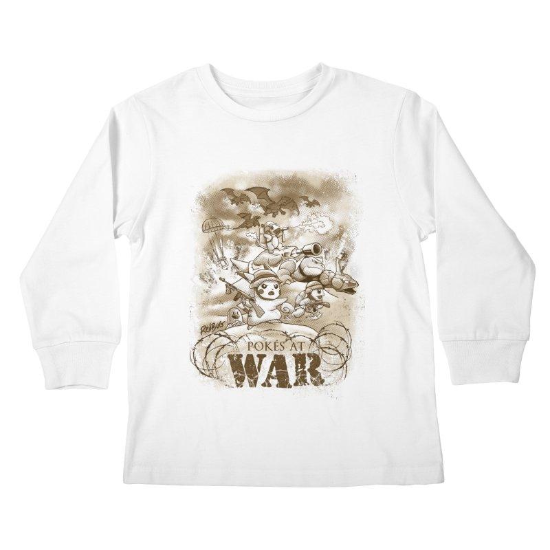 Pokés at War Kids Longsleeve T-Shirt by Red Bug's Artist Shop