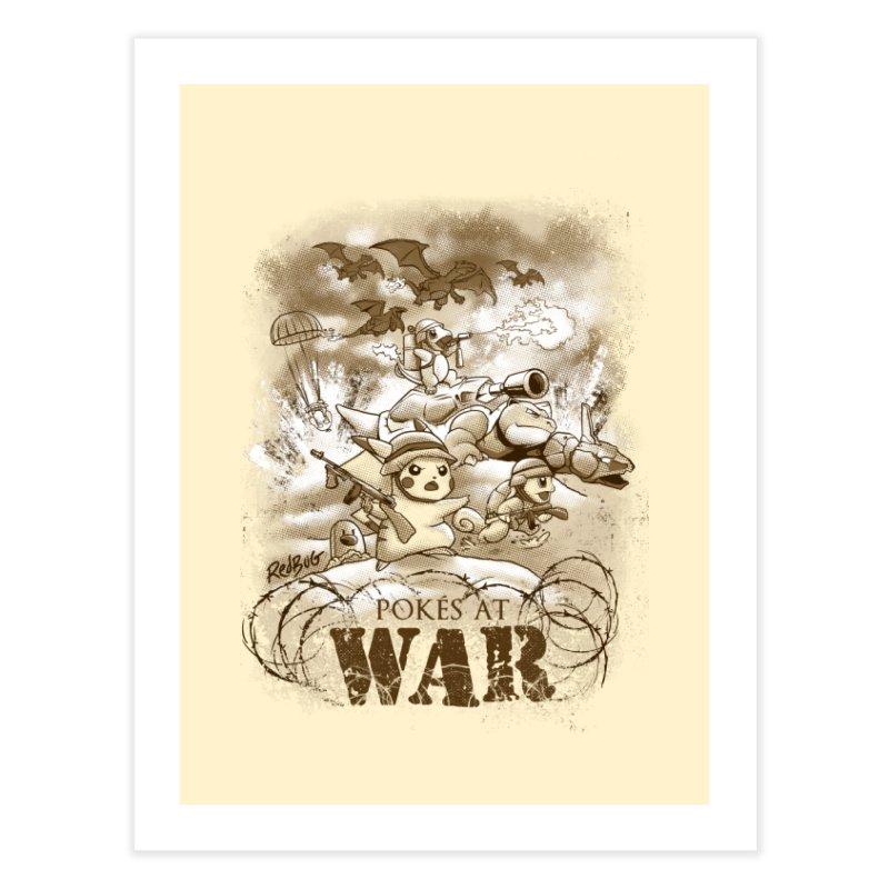 Pokés at War Home Fine Art Print by Red Bug's Artist Shop