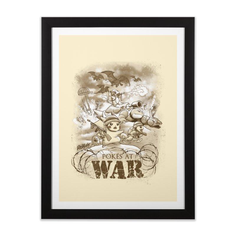 Pokés at War Home Framed Fine Art Print by Red Bug's Artist Shop