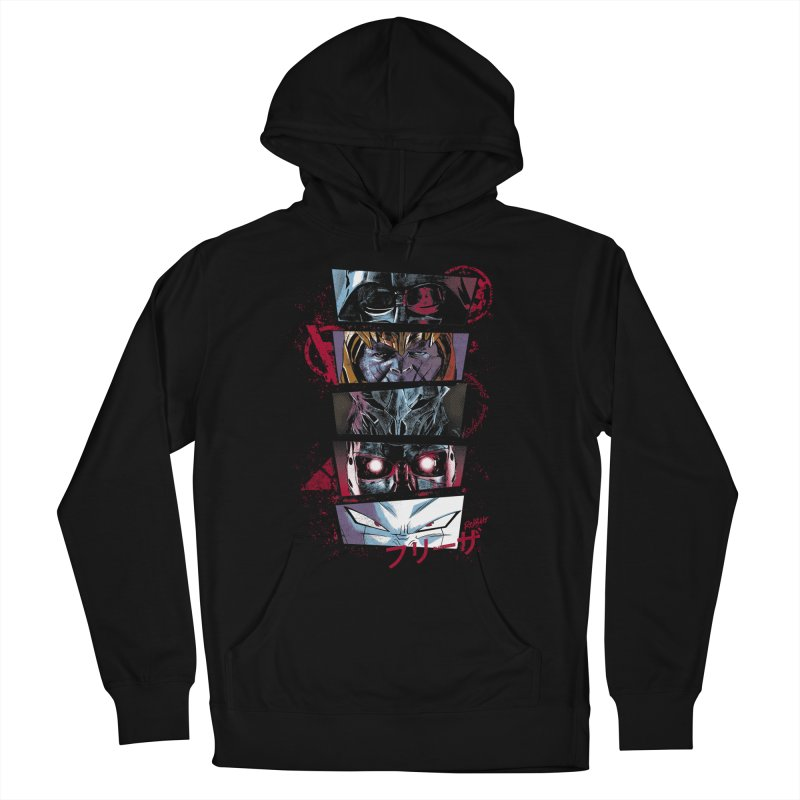Evil Look Men's French Terry Pullover Hoody by Red Bug's Artist Shop