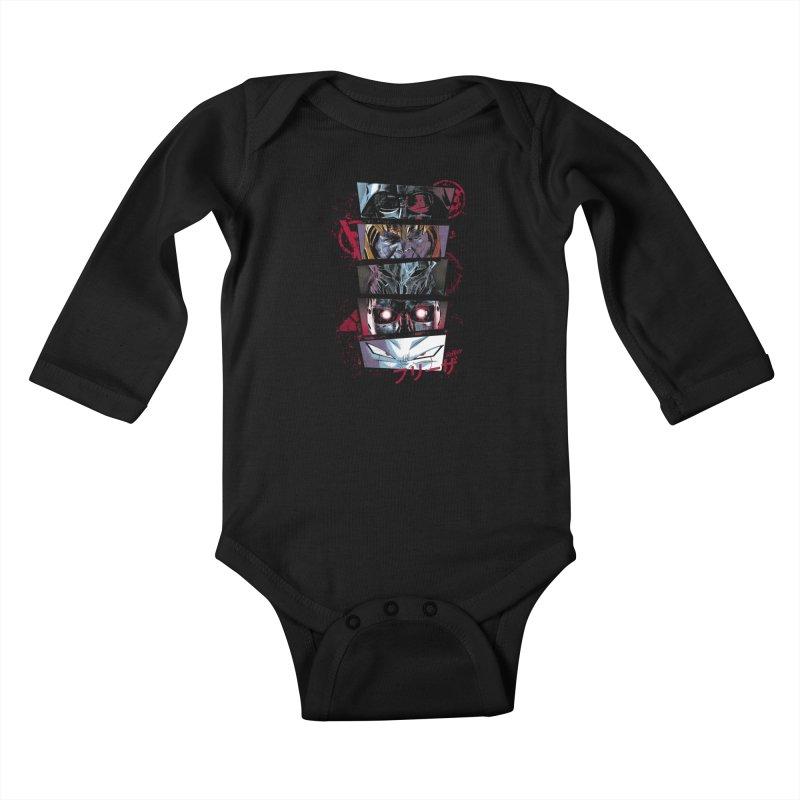 Evil Look Kids Baby Longsleeve Bodysuit by Red Bug's Artist Shop