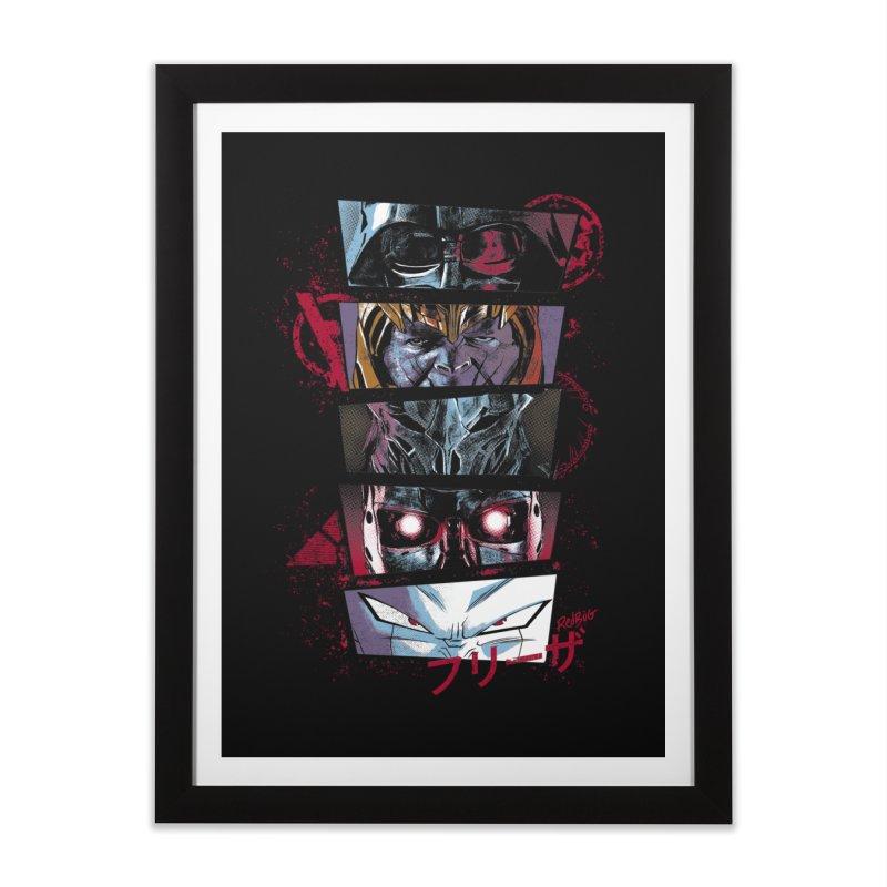 Evil Look Home Framed Fine Art Print by Red Bug's Artist Shop