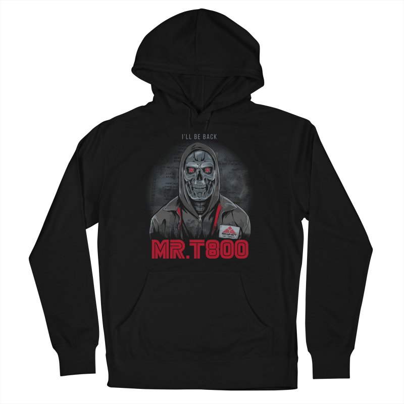 Mr. T800 Men's French Terry Pullover Hoody by Red Bug's Artist Shop