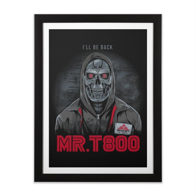 Mr. T800 Home Framed Fine Art Print by Red Bug's Artist Shop