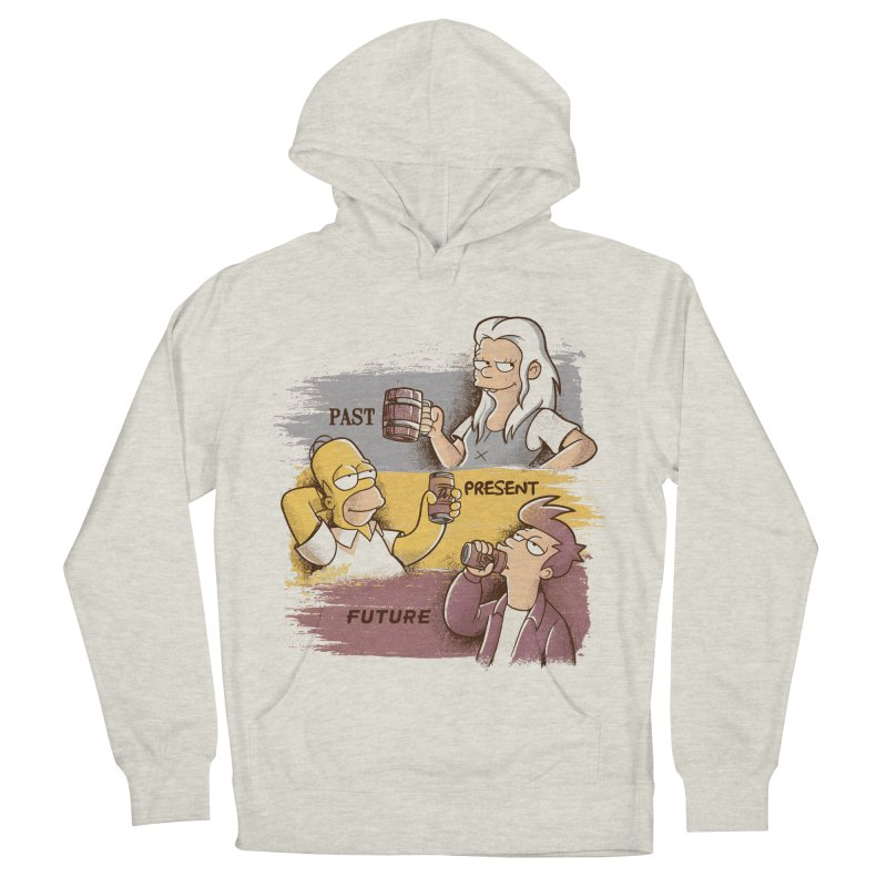 Past, Present, Future Men's French Terry Pullover Hoody by Red Bug's Artist Shop