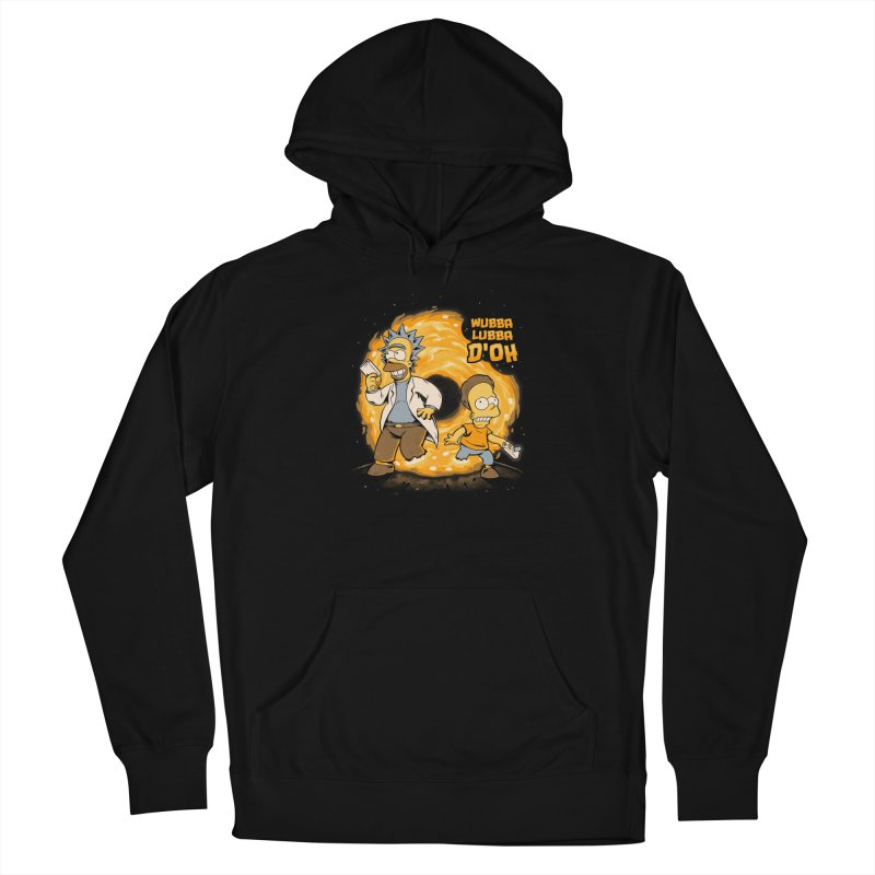 Wubba Lubba D'oh Men's French Terry Pullover Hoody by Red Bug's Artist Shop