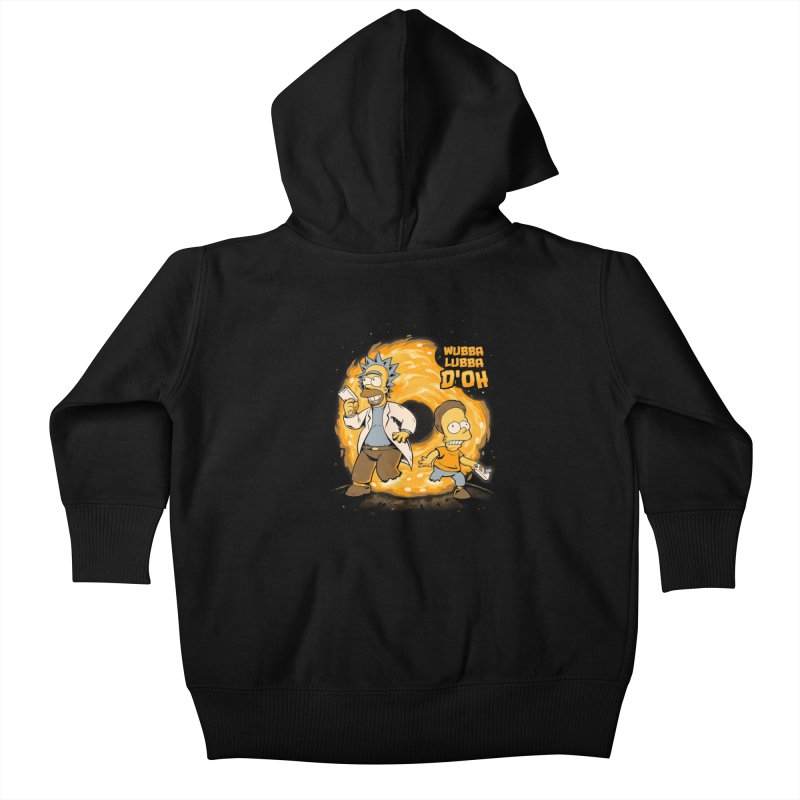 Wubba Lubba D'oh Kids Baby Zip-Up Hoody by Red Bug's Artist Shop
