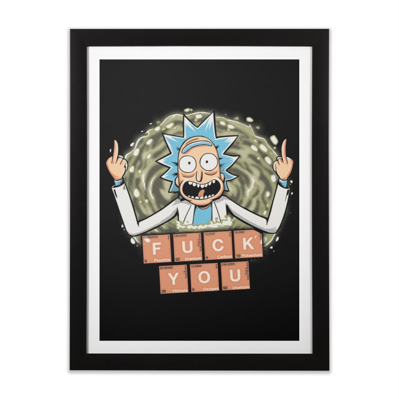 Rick's periodic table Home Framed Fine Art Print by Red Bug's Artist Shop