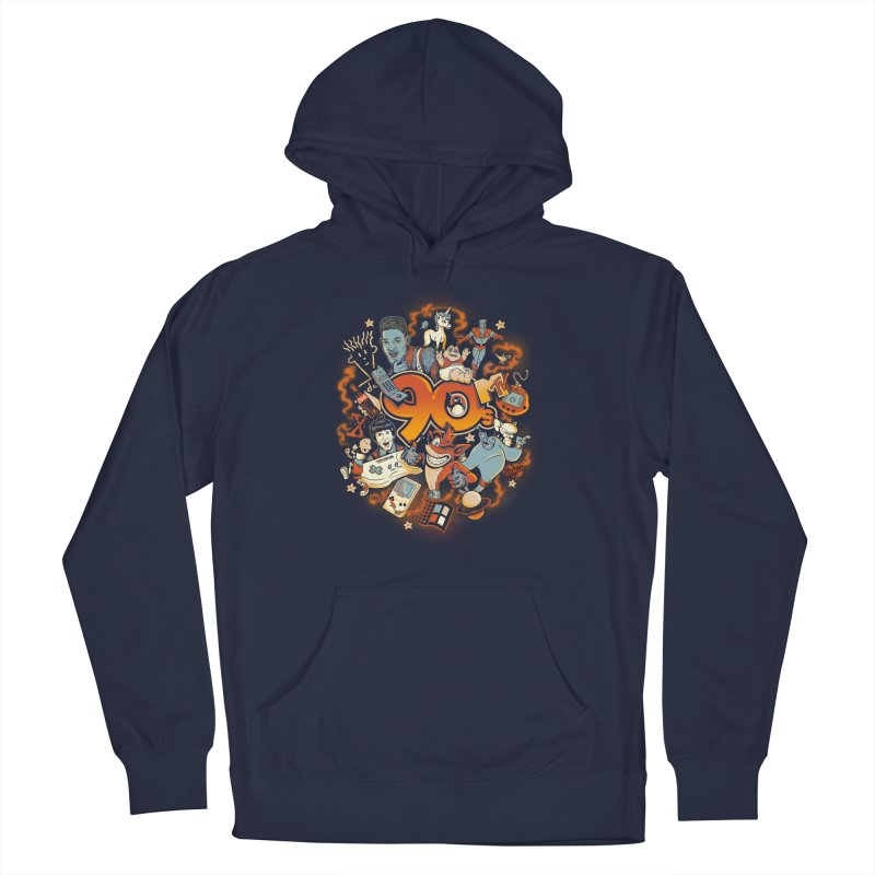 Anos 90 Men's Pullover Hoody by Red Bug's Artist Shop