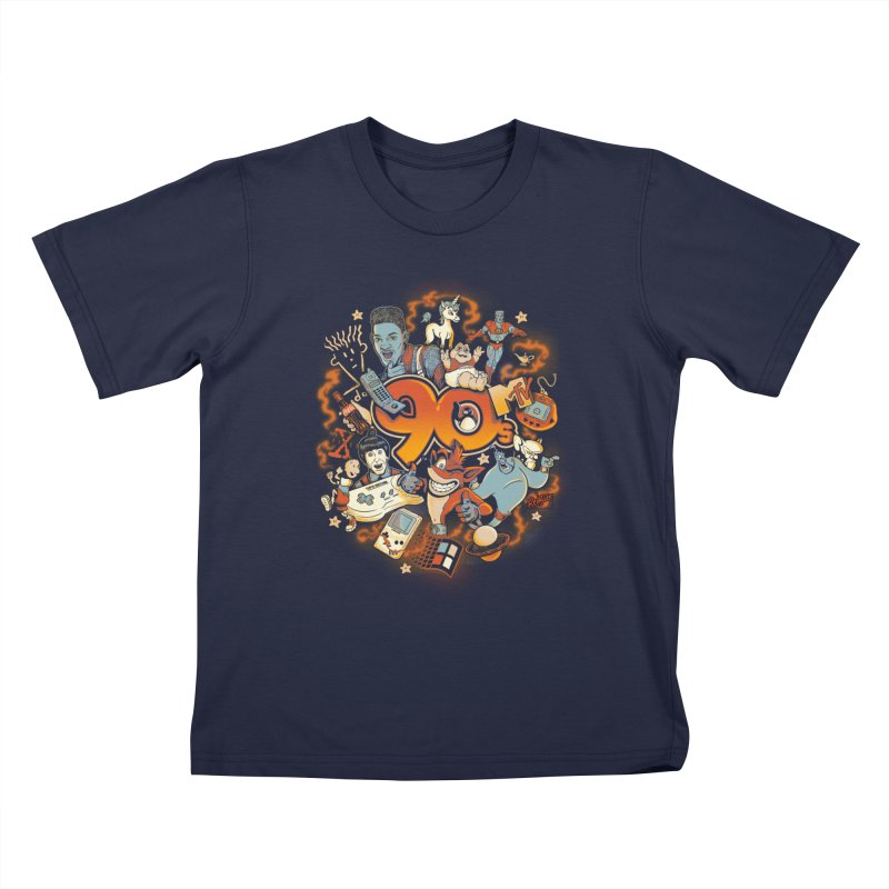 Anos 90 Kids T-Shirt by Red Bug's Artist Shop