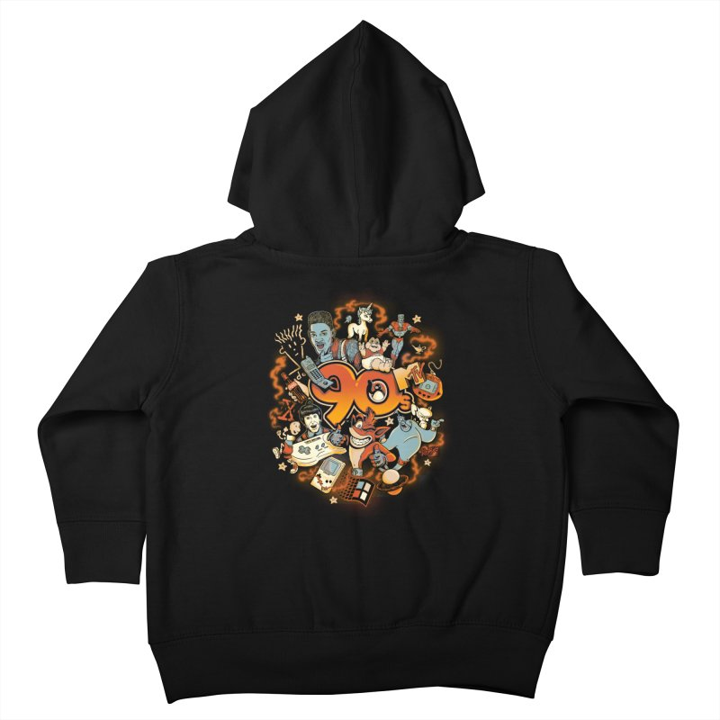Anos 90 Kids Toddler Zip-Up Hoody by Red Bug's Artist Shop