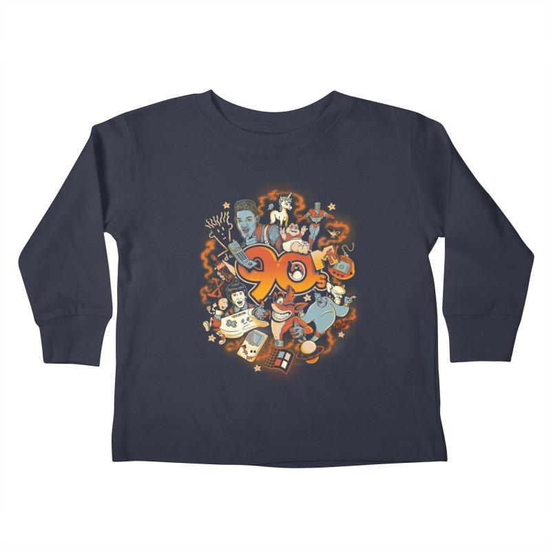 Anos 90 Kids Toddler Longsleeve T-Shirt by Red Bug's Artist Shop