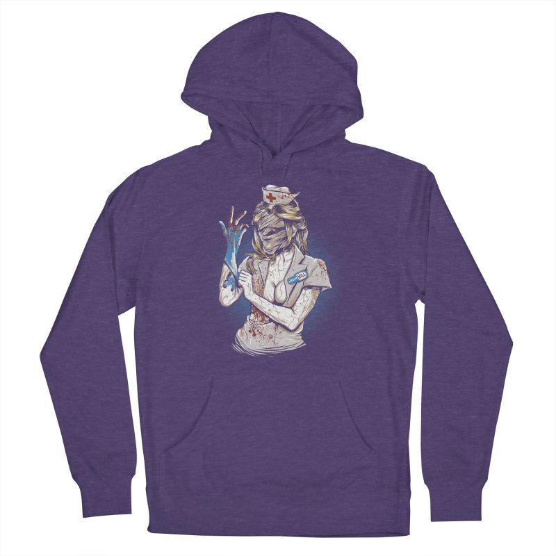 Silent Blink Men's French Terry Pullover Hoody by Red Bug's Artist Shop