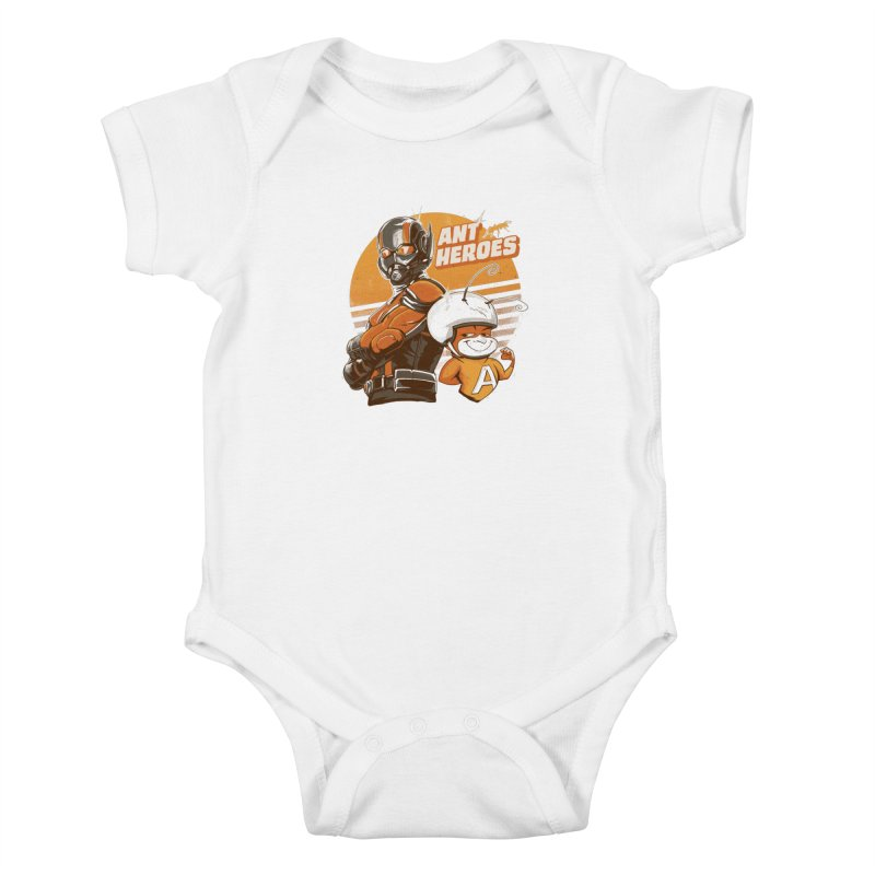Ant Heroes Kids Baby Bodysuit by Red Bug's Artist Shop