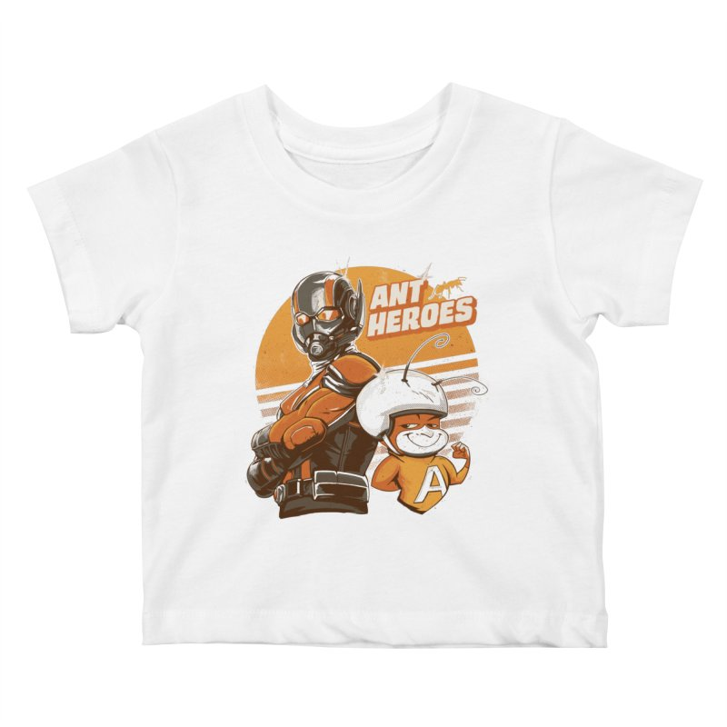Ant Heroes Kids Baby T-Shirt by Red Bug's Artist Shop
