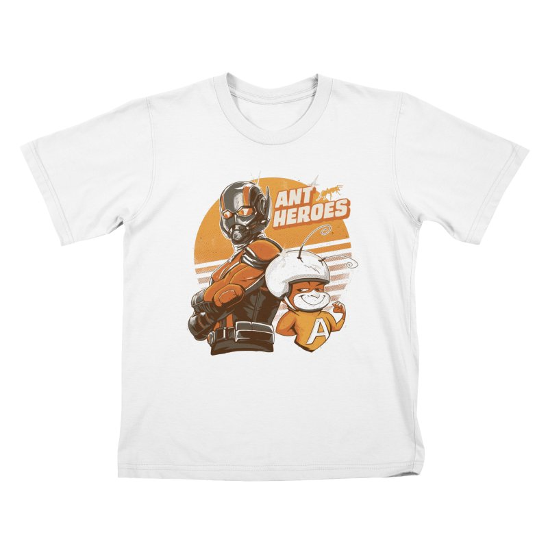 Ant Heroes Kids T-Shirt by Red Bug's Artist Shop