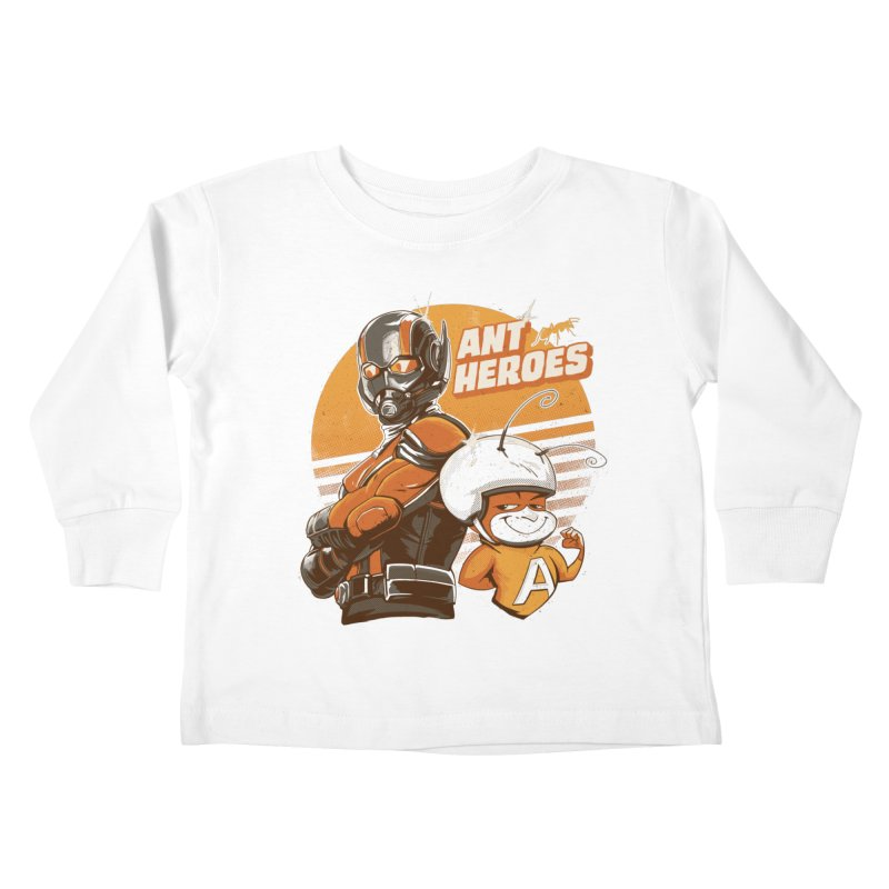 Ant Heroes Kids Toddler Longsleeve T-Shirt by Red Bug's Artist Shop