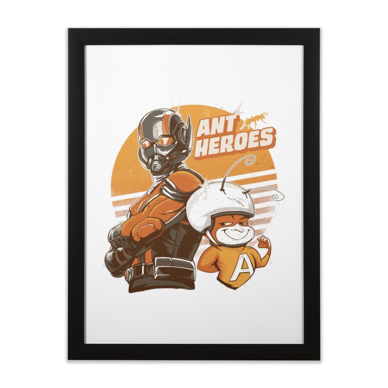 Ant Heroes Home Framed Fine Art Print by Red Bug's Artist Shop