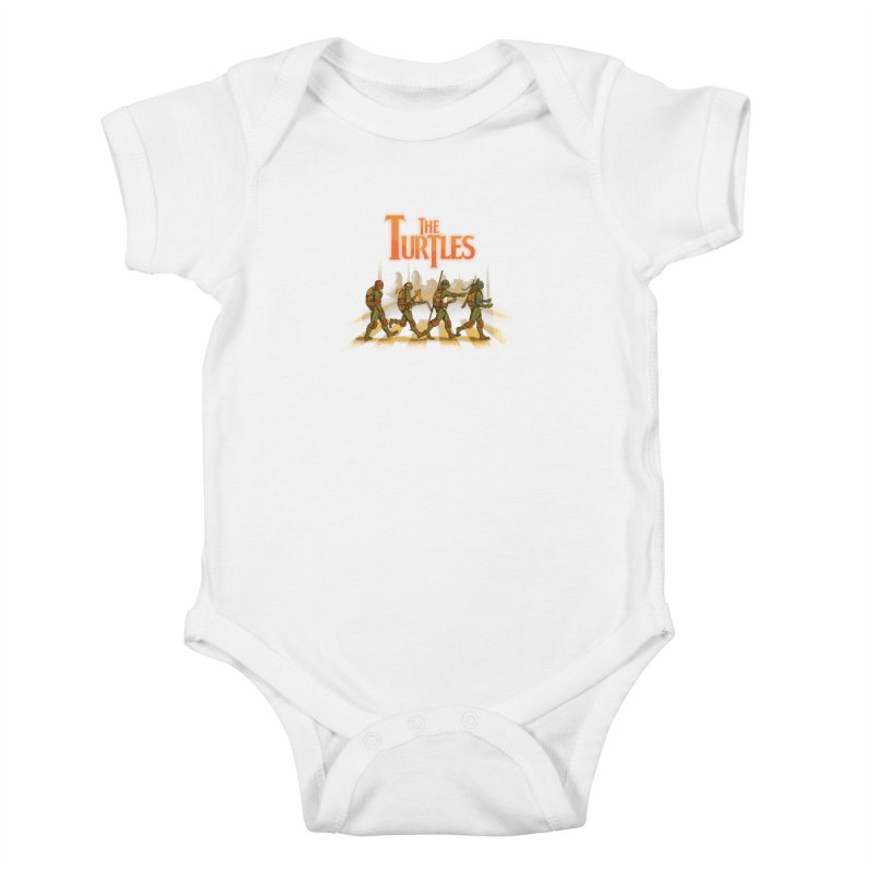 The Turtles Kids Baby Bodysuit by Red Bug's Artist Shop