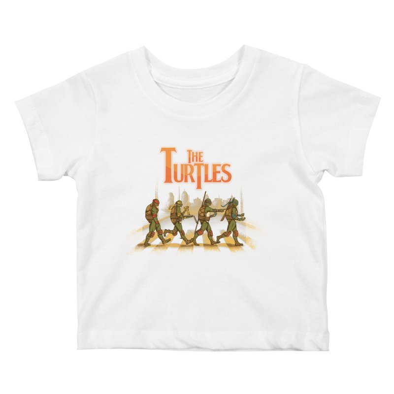 The Turtles Kids Baby T-Shirt by Red Bug's Artist Shop